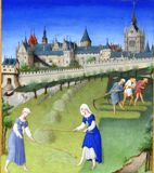 Chantilly, ms. 65, fol. 6v, mois de juin